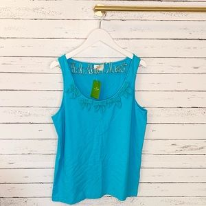 NWT Kate Spade New York Bow Crew Neck Tank